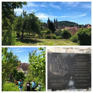 FDP Heppenheim besucht das alte Synagogengelände am Fuss des Schlossbergs. Das erste Projekt der Bürgerstiftung Heppenheim